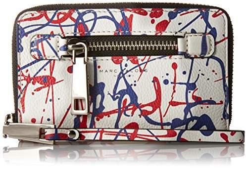 Marc Jacobs Splatter Paint Zip Phone Wristlet Clutch