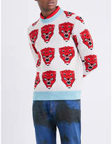 Gucci Tiger-motif Wool Jumper