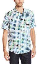 Robert Graham Men's Seapages S/s Woven Shirt