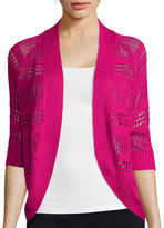 Liz Claiborne 3/4 sleeves Crochet Cardigan Sweater