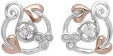 Clogau Gold Clogau Origin silver & 9ct rose gold white topaz earrings