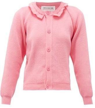 COMME DES GARÇONS GIRL Raglan-sleeve Ruffled Cardigan - Pink