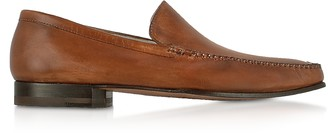 Pakerson Brown Italian Handmade Leather Loafer Shoes