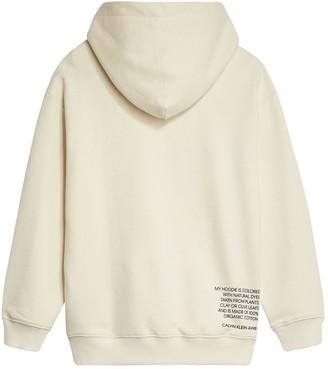 Calvin Klein Jeans Boys Natural Monogram Hoodie - Lemon