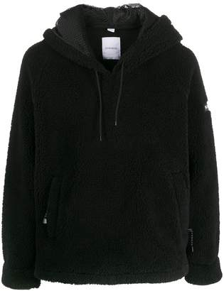 Napapijri logo patch fleece hoodie