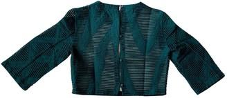 Tibi Green Wool Top for Women