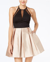 Teeze Me Juniors' Glitter Fit & Flare Dress