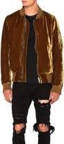 Amiri Silk Velvet Bomber Jacket