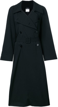 Chanel Pre Owned CC logo button long coat