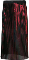By Malene Birger sheer pleated midi skirt