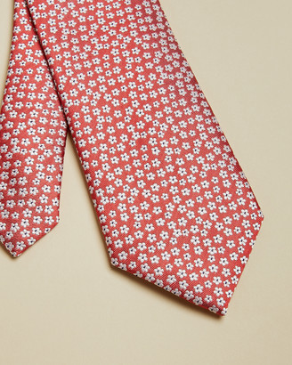Ted Baker DAZY Small floral print silk tie