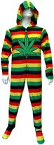 WebUndies.co Weedan Route 420 Adult Footie Onesie Pajaas with Hood foren (ediu)