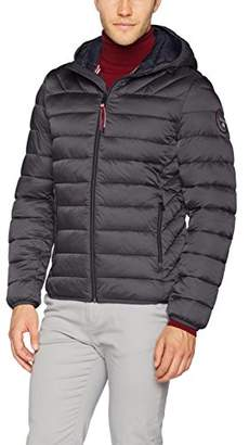 Napapijri Men's Aerons Hood Jacket, Dark Grey Solid 198, X-Large