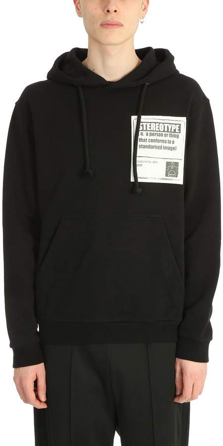 Maison Margiela Black Cotton Stereotype Sweatshirt