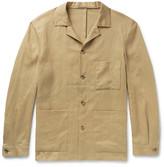 P. Johnson - Camp-collar Linen Overshirt - Sand