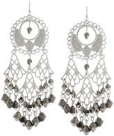 Fragments for Neiman Marcus Silvertone Filigree Crystal Chandelier Earrings