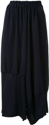 Y's Cropped Relaxed-Fit Trousers