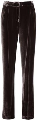 MICHAEL Michael Kors Wide Leg Velvet Trousers