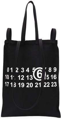 MM6 MAISON MARGIELA Numbers Logo Shopper Tote