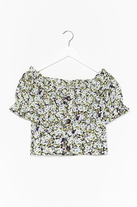 Nasty Gal Womens It's Bouquet With Us Floral Crop Top - Black - L