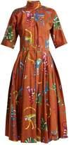Stella Jean Monkey-print stretch-cotton dress