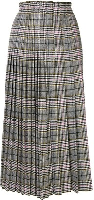 Ermanno Scervino Prince of Wales check-print pleated skirt