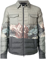 Etro padded coat with print