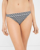 White House Black Market Printed Banded Bikini Bottom