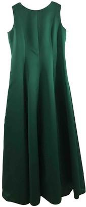 Carolina Herrera Green Silk Dress for Women