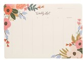 Rifle Paper Co. Lively Floral Weekly List Desk Pad - Green