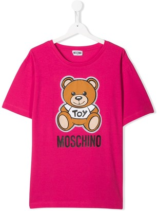 MOSCHINO BAMBINO TEEN teddy logo T-shirt