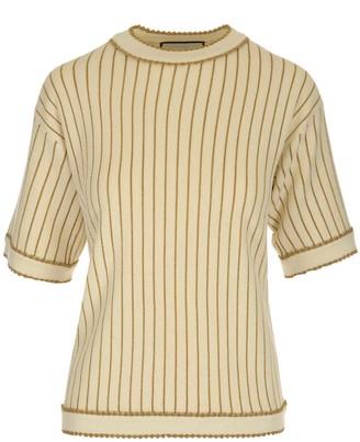 Gucci Pinstripe Knitted T-Shirt