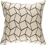 Rejuvenation Geometric and Charcoal Gray Tweed Pillow