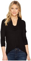 Lucky Brand Cowl Neck Thermal Top Women's Clothing
