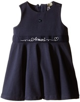 Armani Junior Navy Jersey Dress with Armani Signature (Infant)