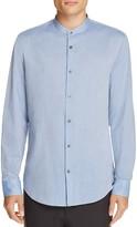 Vince Band Collar Regular Fit Button-Down Shirt