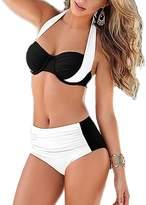 Ggirl Womens Bandage Push Up Padded Bikini Bra Set Swimsuit