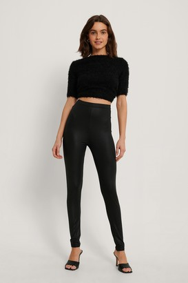 NA-KD High Waist Shiny Leggings