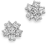 KC Designs 14K White Gold Diamond Floral Cluster Stud Earrings