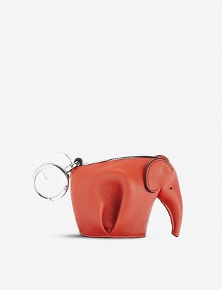 Loewe Elephant leather coin purse charm