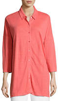 Eileen Fisher 3/4-Sleeve Organic Linen Jersey Tunic
