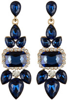Cara Accessories Blue Large Occasion Drop Earrings