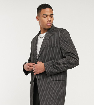 Reclaimed Vintage blazer in grey stripe
