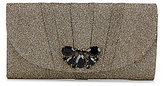 Kate Landry Glitter Mesh Flap Brooch Clutch