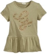 GUESS Embellished Peplum T-Shirt, Big Girls (7-16)