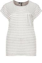 Via Appia Plus Size Striped linen top