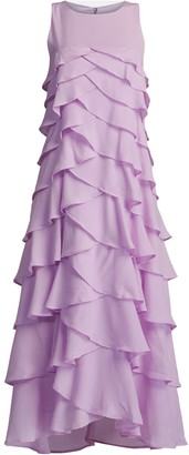 Gisy Lilac Ruffle Ankle Dress