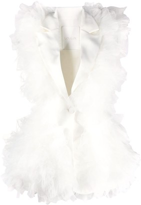 Loulou Ruffled Detail Sleeveless Blazer