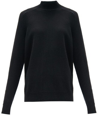 Bottega Veneta Longline-cuff Wool Sweater - Black