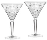 Marquis by Waterford Marquis Crosby Barware Martini Pair